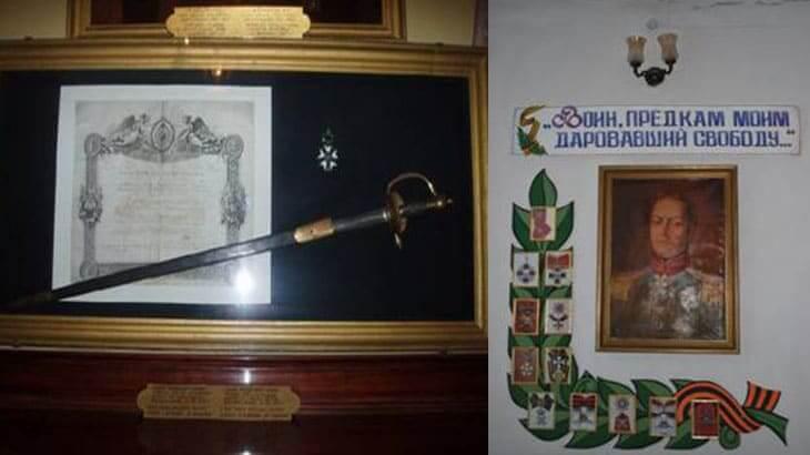 уголок инзова в музее города Болграда
