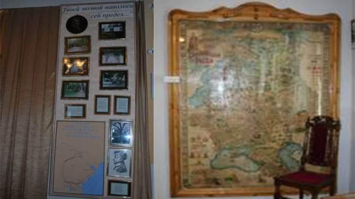 карта поездок пушкина