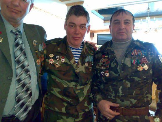 Валерий Бессарабский с афганцами