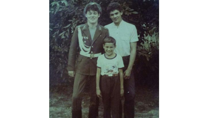 Валерий Бессарабский с братьями Аликом и Жорой